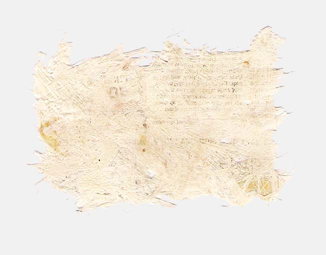 Handgeschept papier van riet