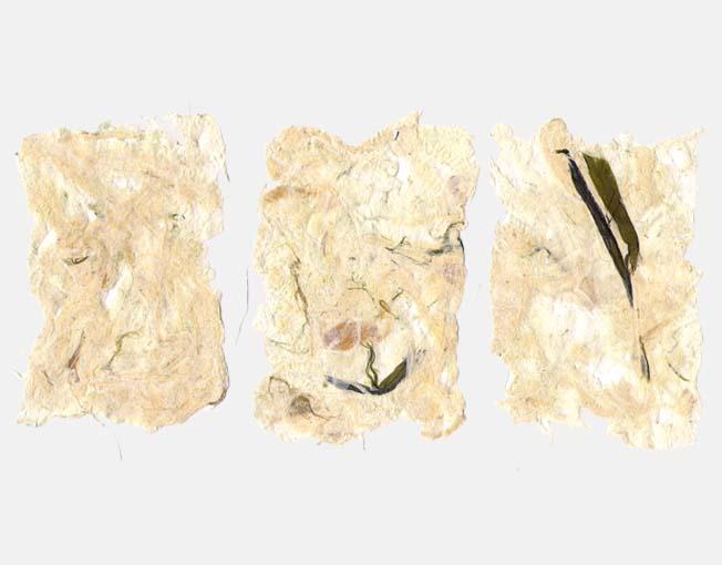 Handgeschept papier van prei
