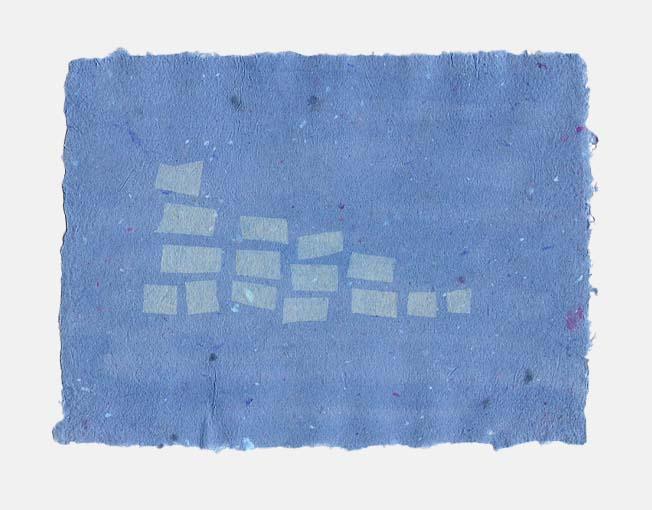 Handgeschept papier met bloemblaadjes en rijstpapier decoratie