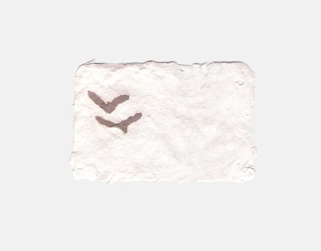 Katoenpapier met vogeltjes